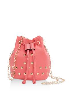 Mini Studded Bucket Crossbody Bag - 1124073401133