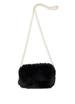 Faux Fur Chain Crossbody Bag - 1124073401171