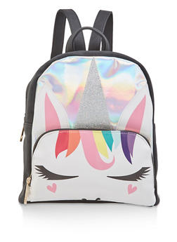 Holographic Glitter Unicorn Backpack - 1124073401237