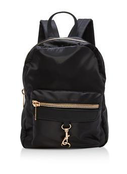 Small Satin Zipper Backpack - 1124073401373
