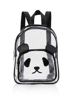 Clear Panda Backpack - BLACK/CLEAR - 1124073401614