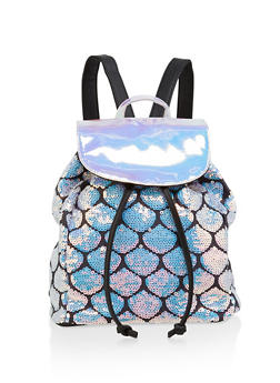 Holographic Sequin Backpack - 1124073402080