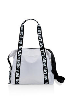 Graphic Strap Nylon Tote Bag - 1124073403035