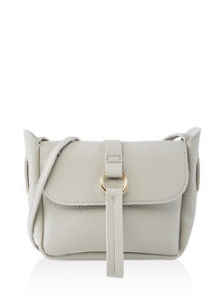 Textured Faux Leather Crossbody Bag | 1124073890050 - 1124073890050