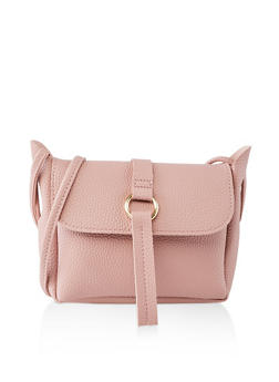 Textured Faux Leather Crossbody Bag   1124073890050 - 1124073890050