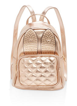 Small Studded Bunny Ears Backpack - 1124073895649
