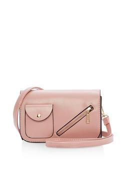 Small Zip Front Crossbody Bag - 1124073895921