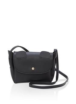 Faux Leather Mini Ears Crossbody Bag - 1124073896039