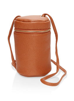 Faux Leather Bucket Crossbody Bag - 1124073896129