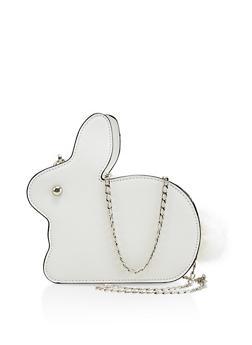 Bunny Pom Pom Crossbody Bag - 1124073896146