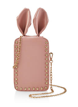 Studded Bunny Ear Chain Crossbody Bag - 1124073896573