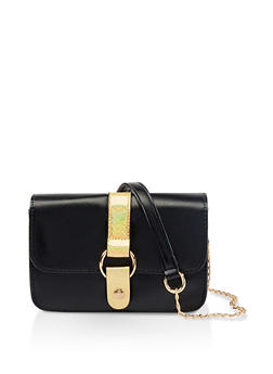 Small Chain Crossbody Satchel - 1124073896598
