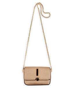 Pebbled Faux Leather Crossbody Bag - 1124073896606