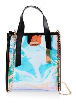 Iridescent Crossbody Tote Bag - 1124073896623