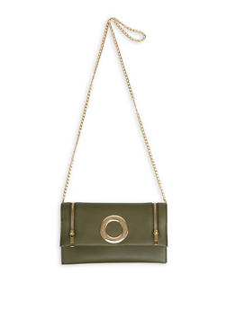Zipper Detail Crossbody Bag - 1124073896642