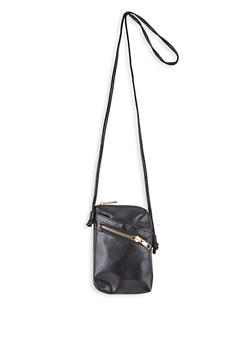 Faux Leather Crossbody Bag - 1124073896668