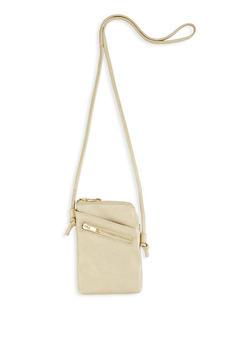 Faux Leather Crossbody Bag - 1124073896668