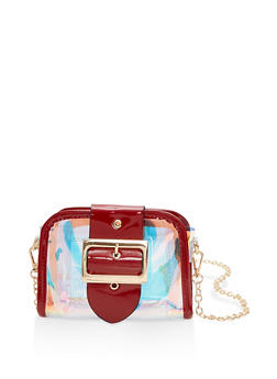 Clear Iridescent Crossbody Bag - 1124073896677