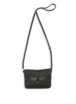 Lovely Cat Faux Leather Crossbody Bag - 1124073896693