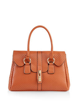Embossed Satchel - 1124073896748