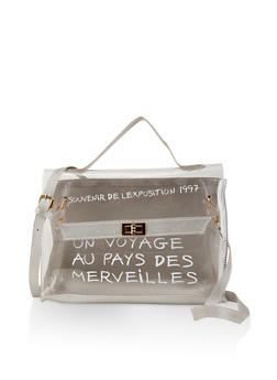 French Graphic Clear Satchel - 1124073896765