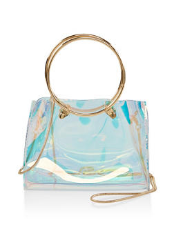 Small Clear Iridescent Crossbody Bag - 1124073896771