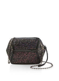 Chunky Geometric Glitter Crossbody Bag - 1124073896847