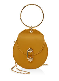 O Ring Handle Round Crossbody Bag - 1124073896915