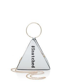 Hashtag Snatched Pyramid Crossbody Bag - 1124073896963