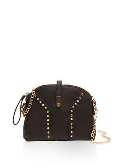 Studded Chain Strap Crossbody Bag - 1124073897025