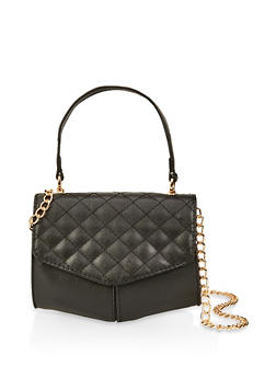 Quilted Flap Crossbody Bag - 1124073897103