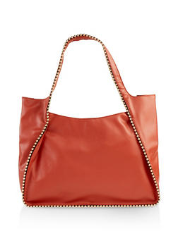 Studded Detail Hobo Bag - 1124073897206