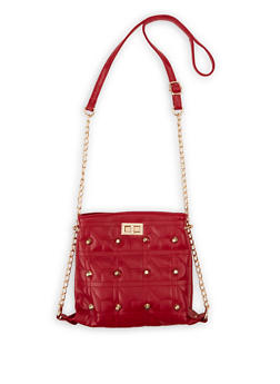 Threaded Chain Strap Crossbody Bag - 1124073897356