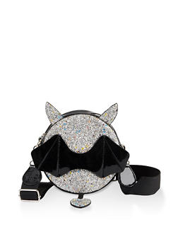 Glitter Bat Crossbody Cantine Bag - 1124073897365