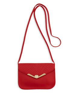 Chevron Embossed Envelope Crossbody Bag - 1124073897645