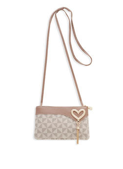 Heart Tassel Detail Crossbody Bag - 1124073897646