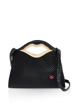 Lip Handle Handbag - 1124073897801