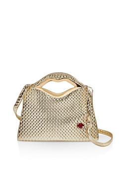 Lip Handle Handbag - 1124073897801