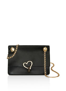Heart Closure Chain Crossbody Bag - 1124073897846