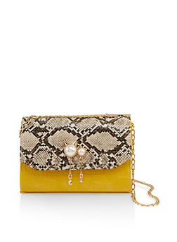Mixed Animal Print Crossbody Bag - 1124073897871