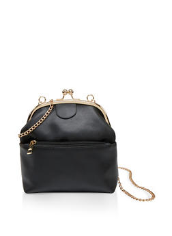 Kiss Lock Chain Crossbody Bag - 1124073897873