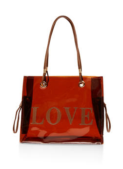 Love Embroidered Tote Bag - 1124073897961