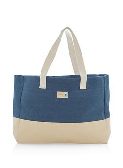 Large Denim Tote Bag - 1124074117309