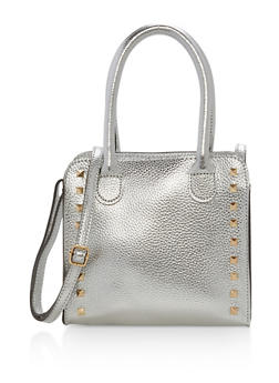 Faux Leather Square Crossbody Bag - 1124074117508
