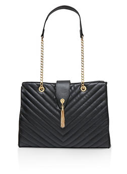 Quilted Chain Strap Shoulder Bag - 1124074390119