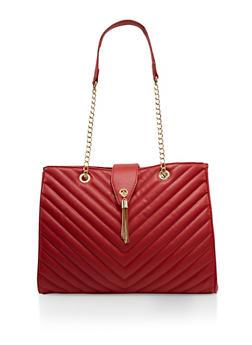 Quilted Chain Strap Shoulder Bag - 1124074390119
