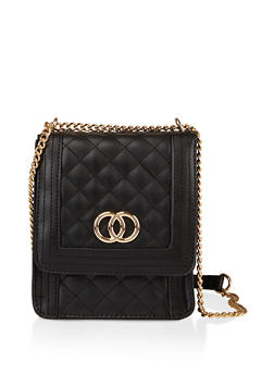 Quilted Square Crossbody Bag - 1124074391900