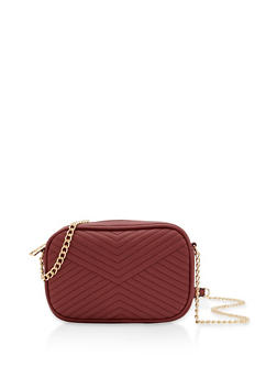Chevron Stitch Crossbody Bag - 1124074391931