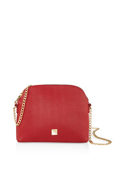Embossed Chain Strap Crossbody Bag - 1124074391992