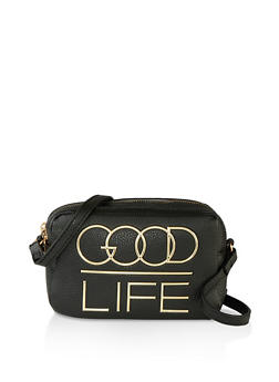 Good Life Faux Leather Crossbody Bag - 1124074392001